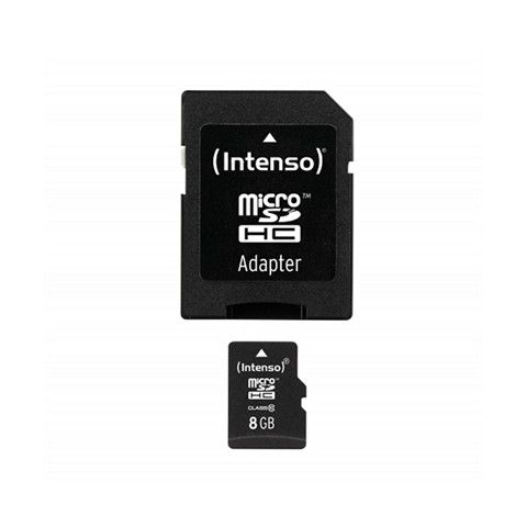 Intenso 3413460 Micro SD clase 10 8GB c adapt