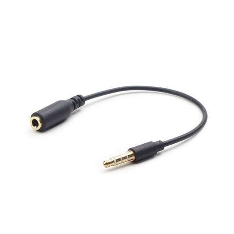 iggual Cable Audio EXTJACK 35 mm 4pin 18cm Negro