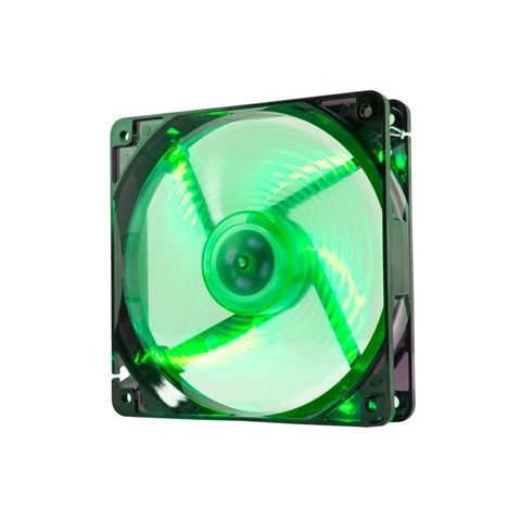 Nox Ventilador Caja Cool Fan 12cm Led Verde