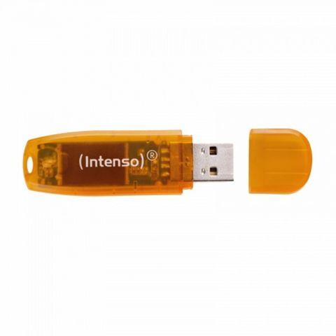 Intenso 3502490 Lapiz USB 20 Rainbow 64GB Naranja