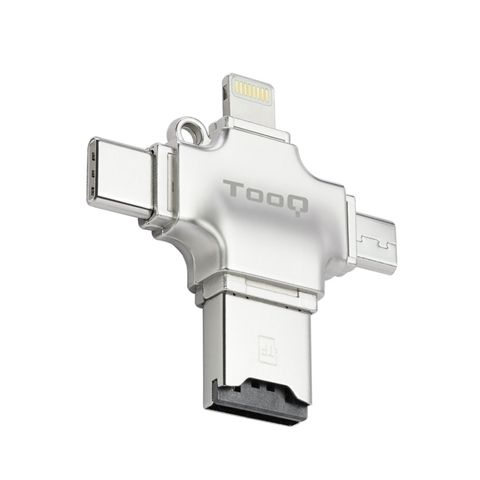 Tooq Lector de tarjetas externo 4en1 para MicroSD