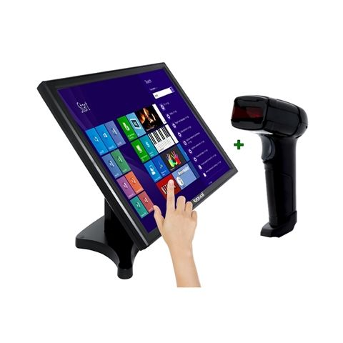 KIT iggual Monitor Tactil 19 Lector 1D LaserUSB