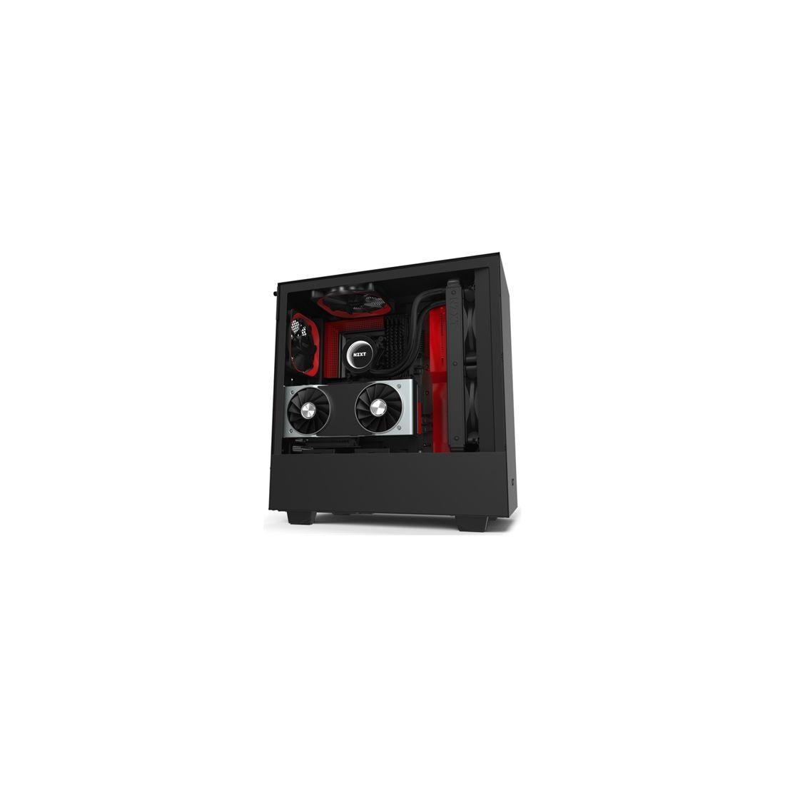 NZXT Caja SemiTorre H510i Led RGB Negro Rojo