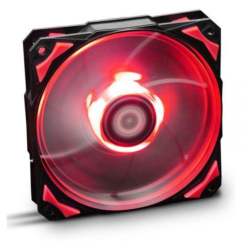 Nox Ventilador Caja HFAN 12cm Led Rojo