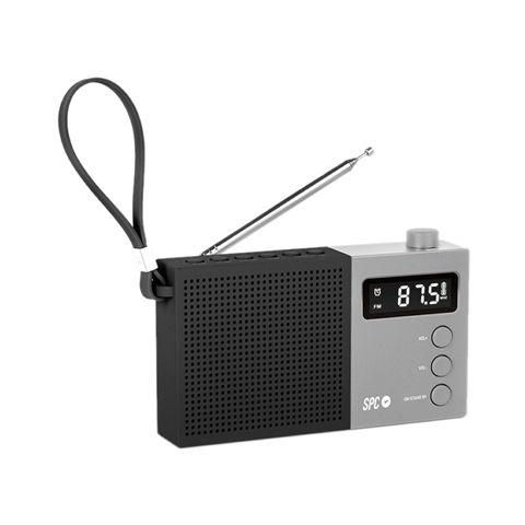 SPC Radio FM Jetty Max pantalla LCD Negro