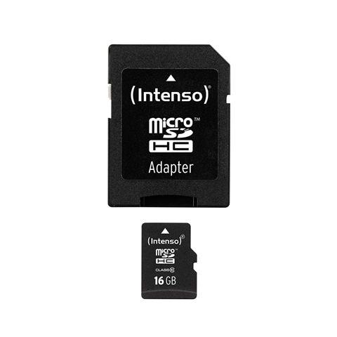 Intenso 3413470 Micro SD clase 10 16GB c adapt