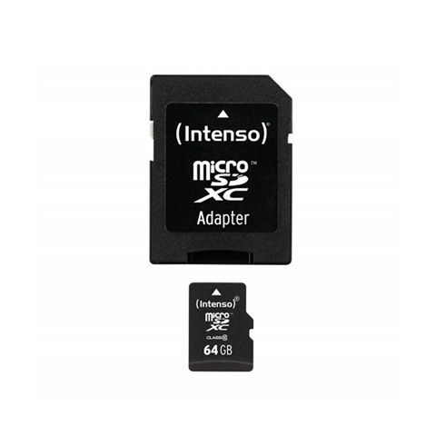 Intenso 3413490 Micro SD clase 10 64GB c adapt
