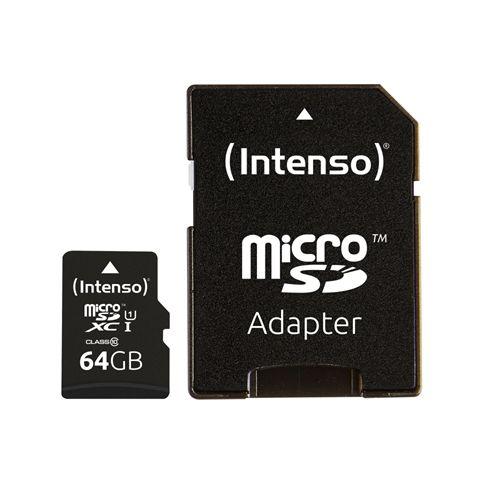 Intenso 3423490 Micro SD UHS I Premium 64GB c adap