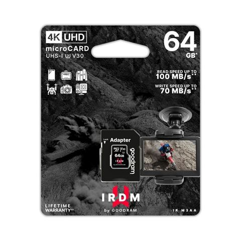 Goodram IRDM UHS I U3 Micro SD 64GB c adap