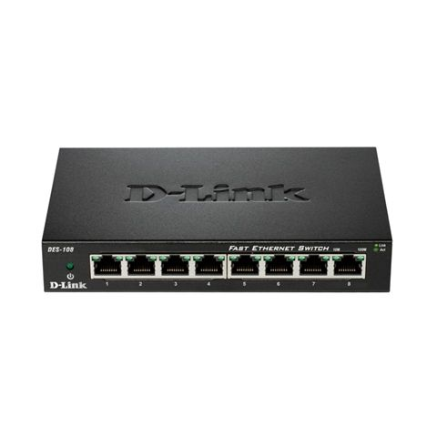D Link DES 108 Switch Switch 8x10 100Mbps Metal