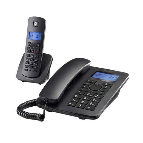 MOTOROLA C4201 Telefono Combo Fijo DECT Negro