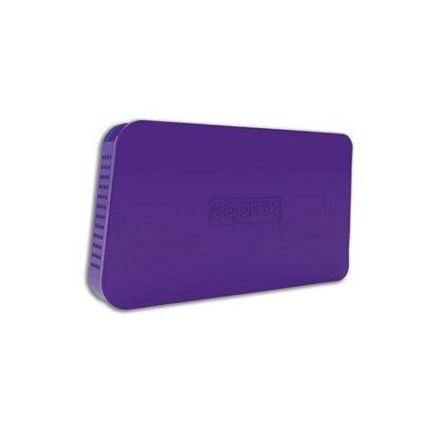 approx appHDD05P Caja Ext25 USB 20 Purpura
