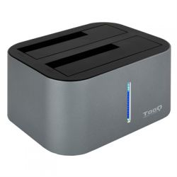 Tooq TQDS 805G Dock Station Doble Bahia HDD Gris