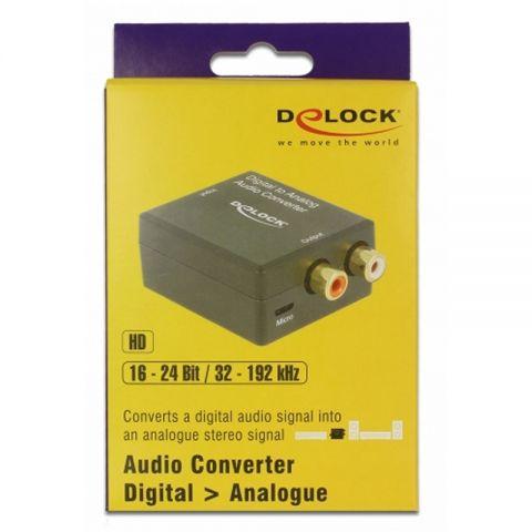 Delock Convertidor de audio Digital Toslink a RCA
