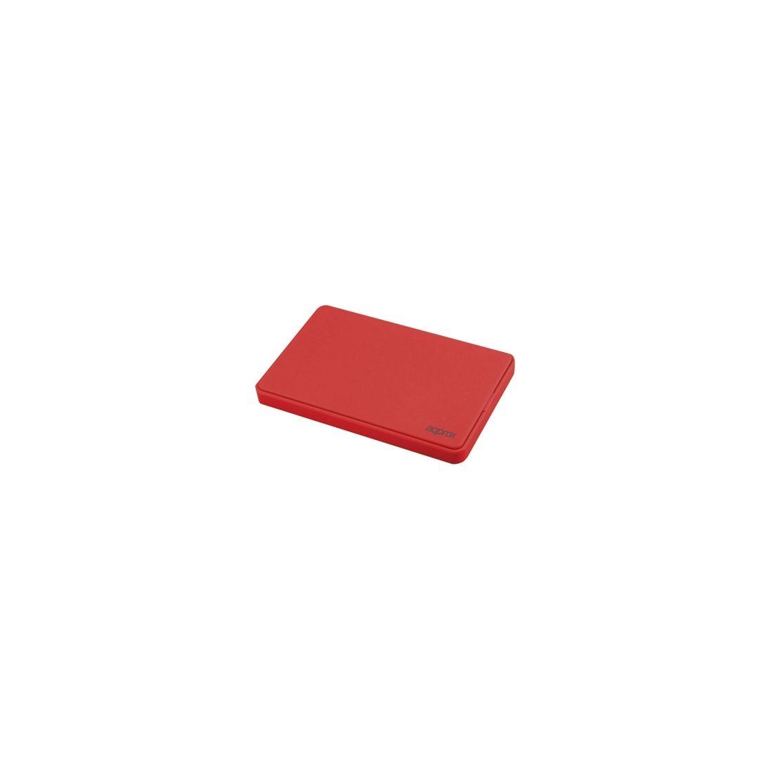 approx APPHDD200R caja HDD 25 SATA 20 Rojo