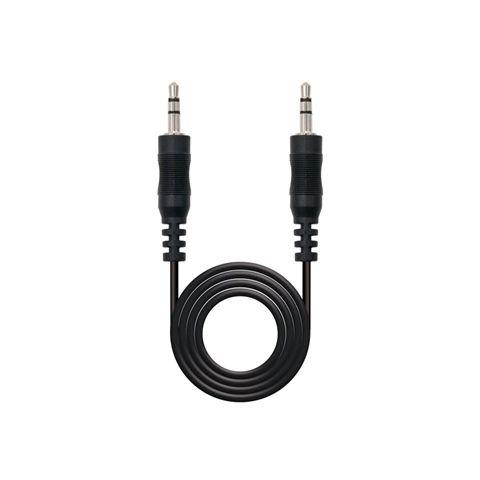 Nanocable Cable audio Jack 35 M M Negro 10m
