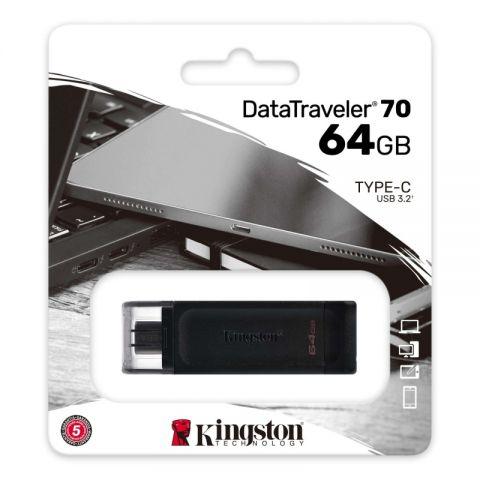 Kingston DataTraveler DT70 64GB USB C 32 Negro