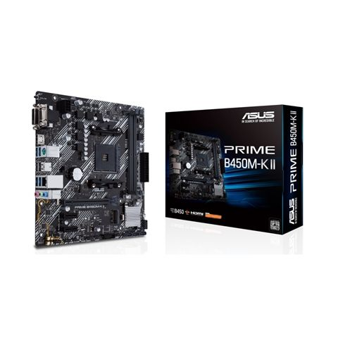 ASUS Placa Base PRIME B450M K II mATX AM4