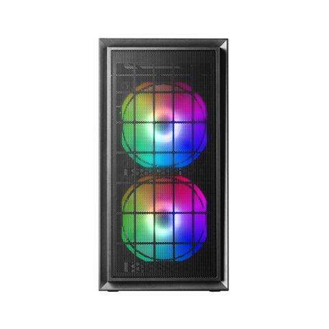 Mars Gaming Caja MCDUO MICRO ATX 2XFRGB MESH BLACK